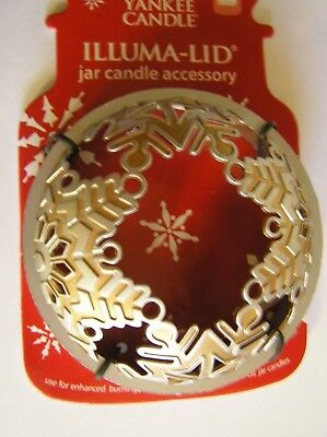 Yankee Candle Christmas Gold Silver Snowflakes Illuma Lid Topper New Free Ship