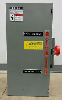 60 Amp Siemens I-t-e Double Throw Safety Switch 240vac, 250vdc, Cat. Nf322dtk