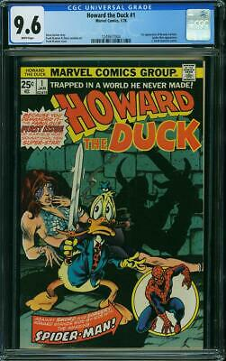 Howard The Duck #1 Cgc 9.6 Spider-man Cover & App! White Pages