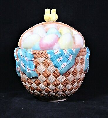 Gibson Housewares Easter Egg Basket Cookie Jar/canister