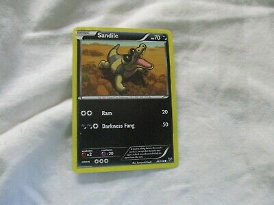 Sandile 69/146 - Common Pokemon Card - XY Base Set (2014) - [group 43 set of 1]