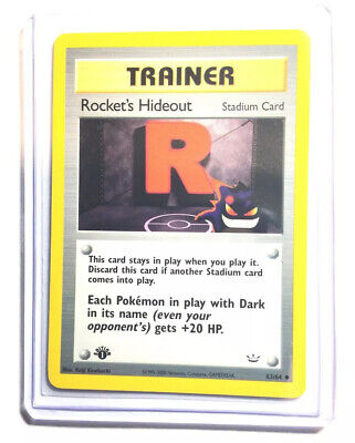 ROCKET'S HIDEOUT - 1st Edition Neo Revelation - 63/64 - Trainer - Pokemon - NM