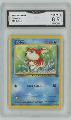 1999 Pokemon Unlimited Jungle #53 Goldeen Graded GMA 8.5 Nm-Mt+ D