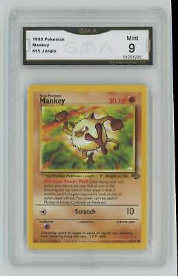 1999 Pokemon Jungle Unlimited #55 Mankey Graded GMA 9 Mint F6