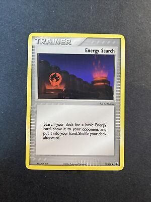 2004 Pokemon EX Ruby And Sapphire Trainer Energy Search 90 /109 03