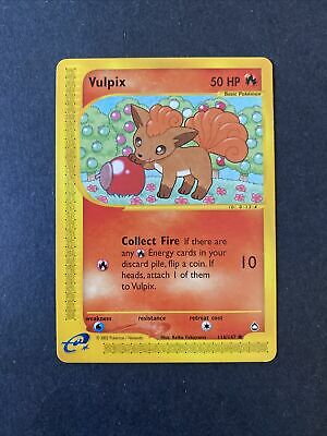 2002 Pokemon Aquapolis Set Vulpix 116 /147 (003)