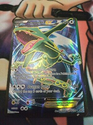 FULL ART Rayquaza EX ULTRA RARE 104/108 Pokemon XY Roaring Skies Holo Foil