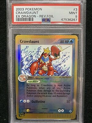 2003 Pokemon EX Dragon Crawdaunt Reverse Foil 3/97 PSA 9 Mint