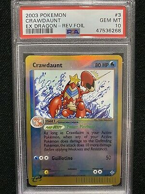 2003 Pokemon EX Dragon Crawdaunt Reverse Foil 3/97 PSA 10 Gem Mint