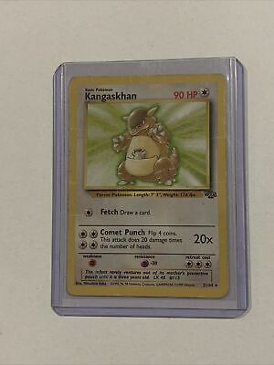Kangaskhan 21/64 Jungle Non Holo Rare Pokemon Card Heavily Played