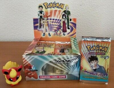 Pokemon BOX FRESH Gym Heroes Booster Pack - BROCK pack - Factory Sealed from Box