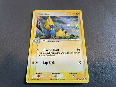 Pokemon Manectric EX 70 HP Emerald Stamped Holo Foil Card 16/106 LP