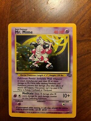 Mr. Mime 6/64 Pokemon Jungle Set Unlimited Rare Holo Foil MINT