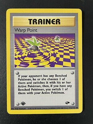 Warp Point Trainer 126/132 - Gym Challenge Set - Pokemon Card - 1st Edition