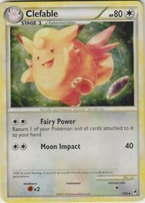 1x Clefable - 1/95 - Holo Rare Heavily Played Pokemon HGSS - Call of Legends