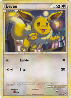1x Eevee - 56/95 - Common Heavily Played Pokemon HGSS - Call of Legends