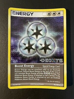 Boost Energy Reverse Holo STAMPED (EX Deoxys 93/107) Pokemon 2005