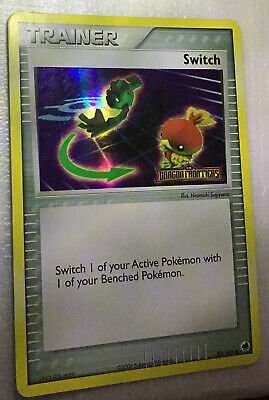 SWITCH (Trainer)  83/101-Ex DRAGON FRONTIERS POKEMON-REV HOLO-STAMPED-NM/M