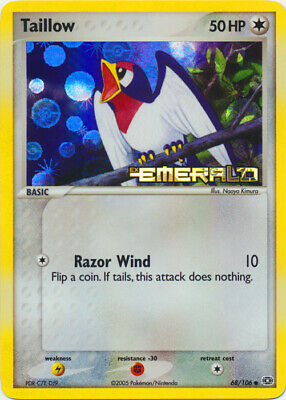 1x Taillow - 68/106 - Common - Reverse Holo Lightly Played Pokemon EX - Emerald