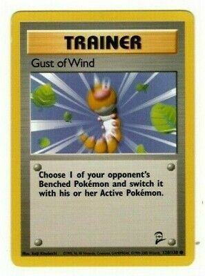 Pokemon Gust of Wind 120/130 Common Trainer Base Set 2 nm condition card