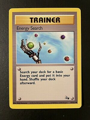 Energy Search 59/62 Trainer Card | 1999 Pokemon TCG Fossil Set