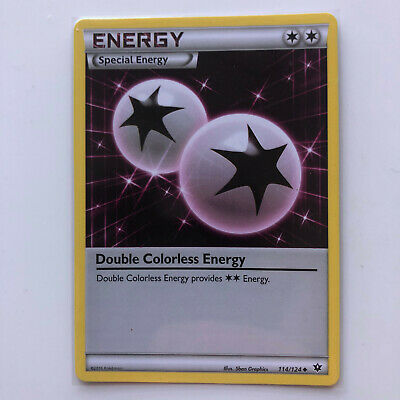 Double Colorless Energy 114/124 Special XY Fates Collide Pokemon Card TCG NM