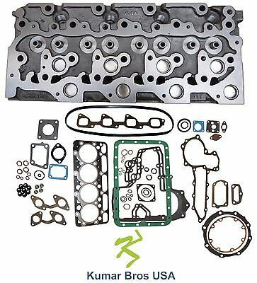 "New Kumar Bros Usa Bobcat S185 ""kubota V2203"" Bare Cyl Head & Full Gasket Set"