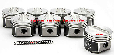 """Speed Pro Ford 390 Forged Pistons Set/8 +.030"""" + H-beam Connecting Rods + Rings"""