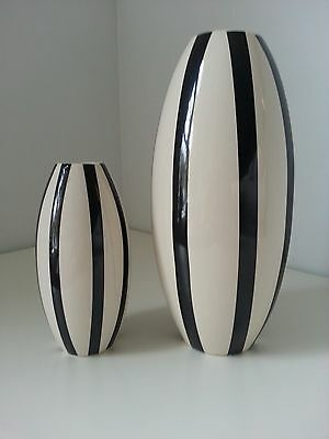 Pavel Janak ,black And White Made By German  Pottery, European, Pair,mint