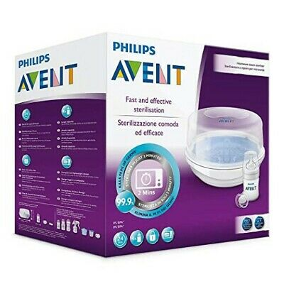 Best Price! Avent Express Microwave Steam Steriliser Baby Bottle Steam Scf282/01