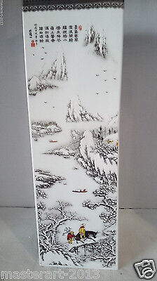 """Large Square Chinese Porcelain Snow White Vase 30""""h X 10w  Very Heavy Over 50lb"""