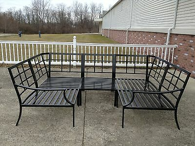 Pottery Barn Riviera Outdoor Sectional Sofa Frame Bronze Armless Chairs Corner 5