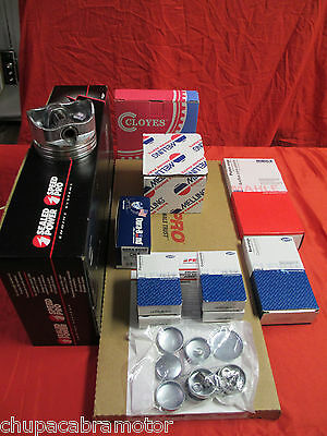 Ford 351w Efi Marine Master Eng Kit Pistons+rings+lifters+gaskets 1-pc