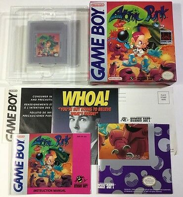Atomic Punk Original Nintendo Game Boy Cib 100% Complete Nr Mint Very Rare