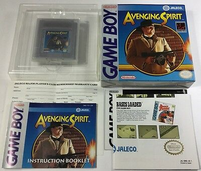 Avenging Spirit (nintendo Original Game Boy 1991) Complete Cib Ultra Rare Ex-nm