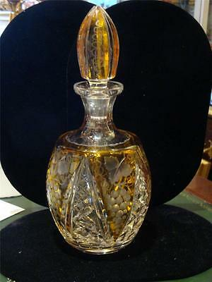 Rare 19thc Baccarat Manner Heavy Hand Cut Crystal French Etched Glass Decanter!!