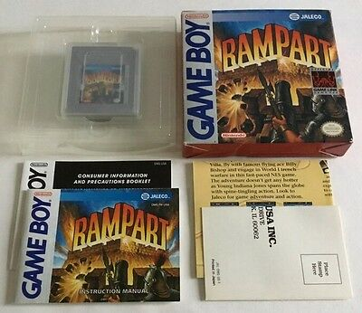 Rampart (nintendo Game Boy) Original Gameboy Cib 100% Complete Ultra Rare