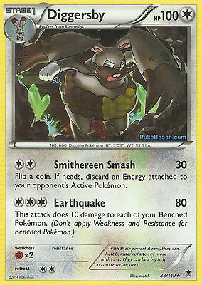 Diggersby 88/119 - Xy Phantom Forces Pokemon Rare Card - In Stock Now!