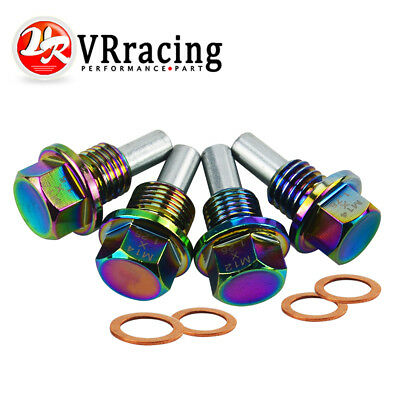 M12 X 1.5 Magnetic Engine Oil Pan Drain Sump Filter Adsorb Plug Bolt Neo Chrome