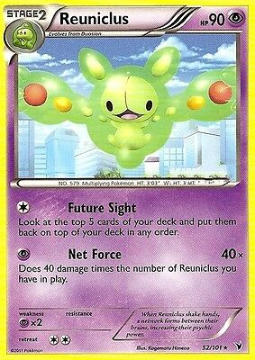 Bw Noble Victories Pokemon Rare Card - Reuniclus 52/101