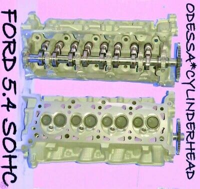 2 Ford Lincoln Navigator 4.6 5.4 Sohc Cylinder Heads Cast# Rf-f65e Only