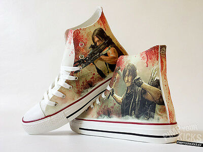 Walking Dead, Daryl, Custom Made Canvas Shoes