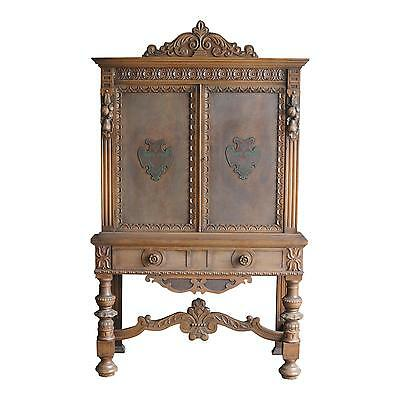 Antique Cabinet / English Style Cabinet / Vintage Hutch / 1920