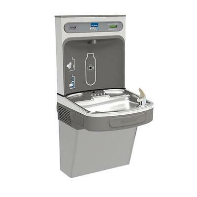Elkay Ezs8wsvrsk Water Fountain & Ezh2o Bottle Filling Station, Stainless Steel