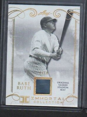 2017 Leaf Immortal Collection Babe Ruth Yankee Stadium Seat 9/10