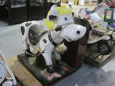 beautiful cow  coin ride kiddy kiddie amusement collectible antique