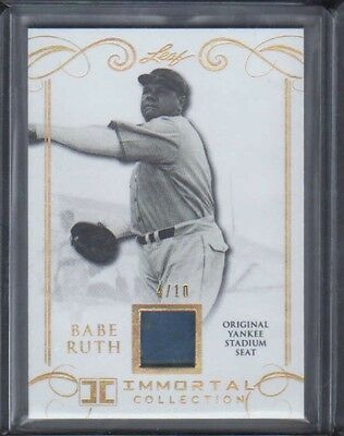 2017 Leaf Immortal Collection Babe Ruth Yankee Stadium Seat 2/10