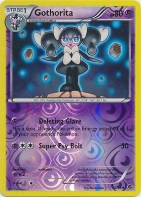 Gothorita 46/98 B&W Emerging Powers REVERSE HOLO PERFECT MINT! Pokemon