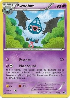 Swoobat 37/98 B&W Emerging Powers RARE MINT! Pokemon