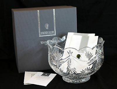 """Waterford 10.5"""" Scalloped Cut Crystal Bowl Limited Edition Coa Winter Wonderland"""